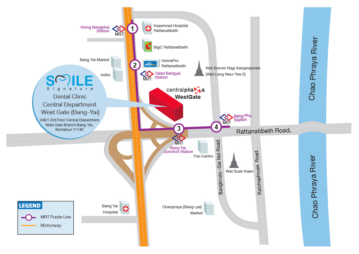 Map Smile Signature Central Westgate